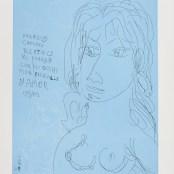 32. Tono Zancanaro, Canto IV del Paradiso, acquaforte e acquatinta, incisione mm392x298, foglio mm 695x503, 1984