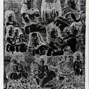 34. Tono Zancanaro, Autopresentazione dantesca, litografia, mm740x550, 1966