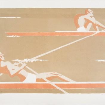 3. Marcello Guasti, I vogatori, 1966, litografia (collezione Museo della Grafica)