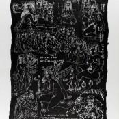 50. Tono Zancanaro, Autopresentazione per Dante, litografia, mm700x500, 1966