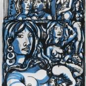56. Tono Zancanaro, Noi le sfacciate donne fiorentine, litografia, mm700x500, 1966