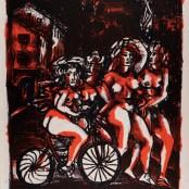 58. Tono Zancanaro, Non facea nascendo ancora paura, litografia, mm765x570, 1966