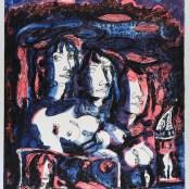 61. Tono Zancanaro, Paolo e Francesca, litografia, mm630x470, 1966