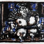 72. Tono Zancanaro, Raab la gran peccatrice, litografia, mm600x800, 1966