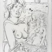 95. Tono Zancanaro, Maselinuntea, litografia, mm713x503, 1970