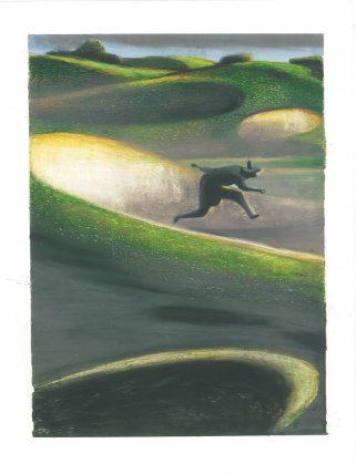 """Lorenzo Mattotti, """"Il padiglione sulle dune"""" (1992, pastelli cm 26x18)"""