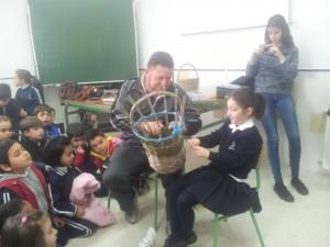 Demostración práctica del artesano Pedro Correa Cabalgante