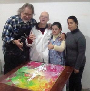 Kim Soler y participantes en el proyecto