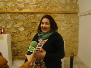 Belén Naharro Lindo, coautora de la monografía, durante su presentación