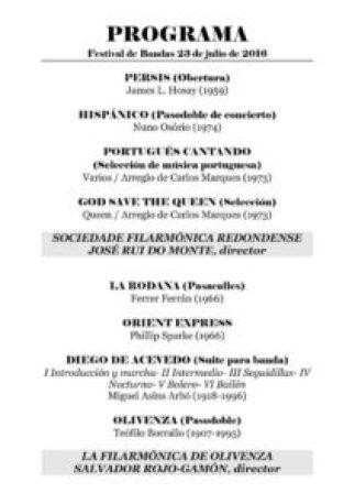 Programa Festival de Bandas