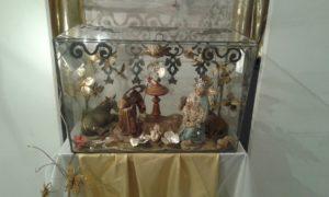 Uno de los belenes del Museo de Olivenza en la exposición de Elvas