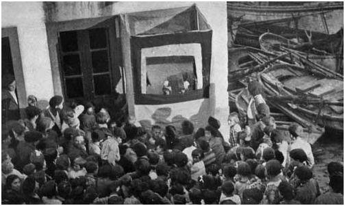 Guiñol en Malpica Misións Pedagóxicas 1931