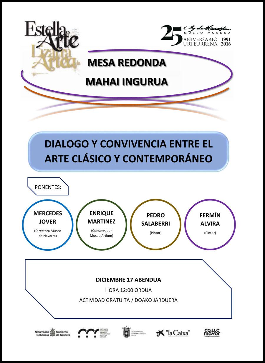 """Mesa Redonda """"Diálogo y convivencia entre el arte clásico y contemporáneo"""""""