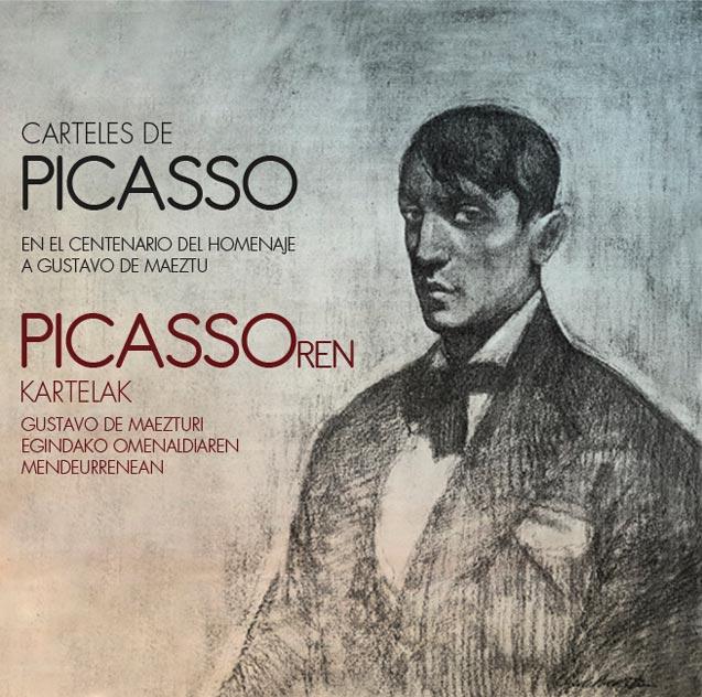 Carteles de Picasso en el centenario del homenaje a Gustavo de Maeztu