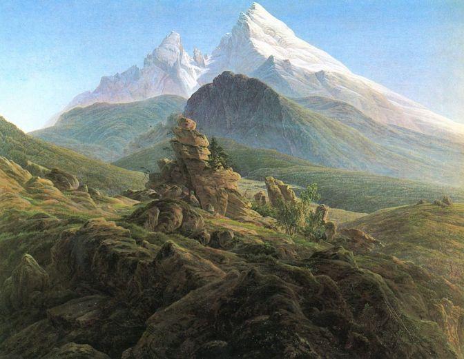 Caspar David Friedrich, <i>Das Watzmann</i>, 136 x 170 cm.
