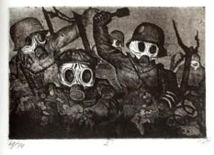 Otto Dix, Tropas de asalto en ataque de gas