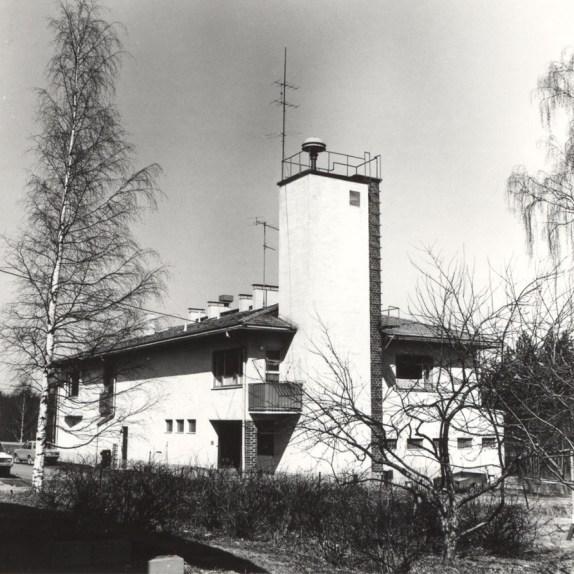 Mäntyharjun paloasema vuonna 1978. Kuva: Mäntyharjun museo, kuvaaja: Hannu Heilio.