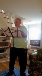 Bill Buschel rapping Voodoo Chile at Sunday house jam