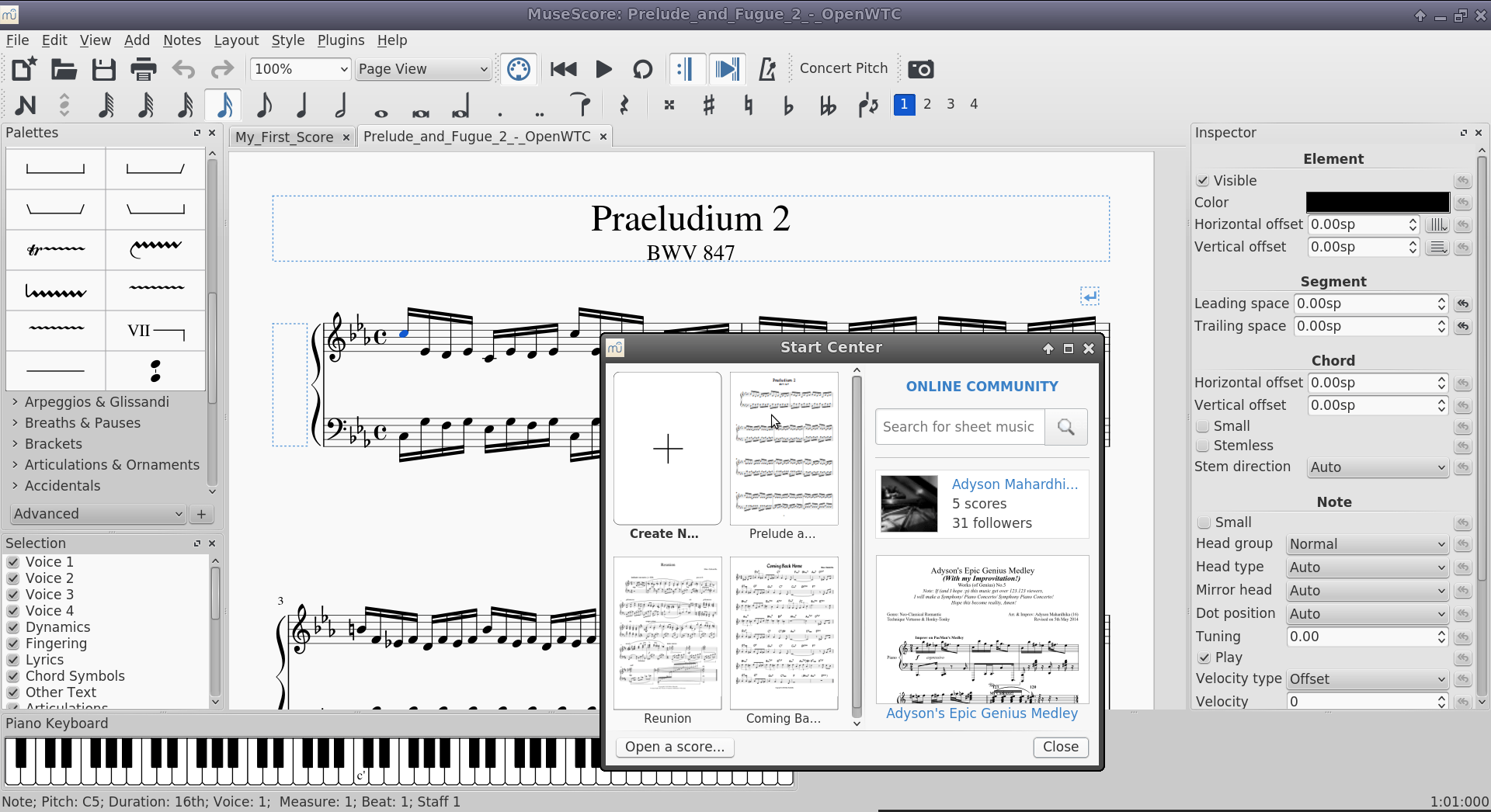 Disponible Musescore 2 0 El Pinguino Tolkiano