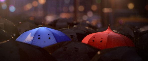 """""""THE BLUE UMBRELLA""""  (Pictured) BLUE and RED. ©2013 Disney•Pixar. All Rights Reserved."""