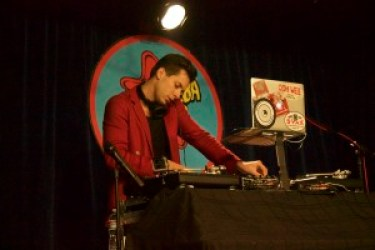 Mark Ronson performed a DJ set at Amoeba Music Wednesday to celebrate the vinyl release of his fourth album, Uptown Special.
