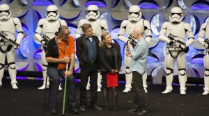 Cast members from the original Star Wars trilogy come together to discuss the new film at Star Wars Celebration.