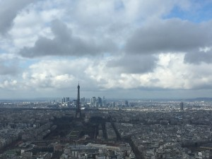 The view of the Eiffel Tower from Montparnasse Tower