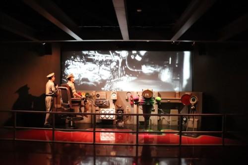 潜水艦の実物展示の前にも展示があり、気分を高めます。潜水艦を鹵獲するまでの経緯を紹介