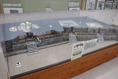 入り口施設には展示コーナーもあります。これは全体模型