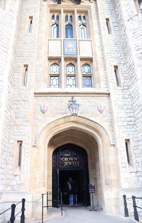 王冠や世界最大級のダイヤモンドが展示されているジュエル・ハウス入り口。内部は撮影禁止