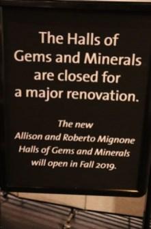 宝石の展示室は、2019年秋にリニューアル・オープンのようです