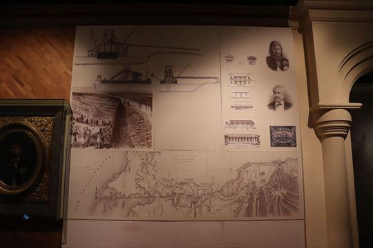 スエズ運河の展示