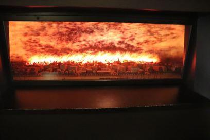 シカゴの街づくりに大きな影響を与えたシカゴ大火のジオラマ