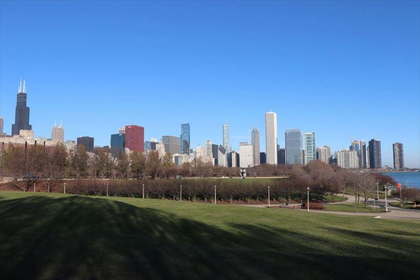 公園からシカゴ中心部方面
