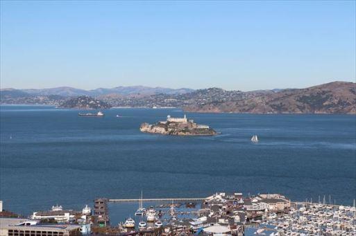 サンフランシスコ湾とアルカトラズ島