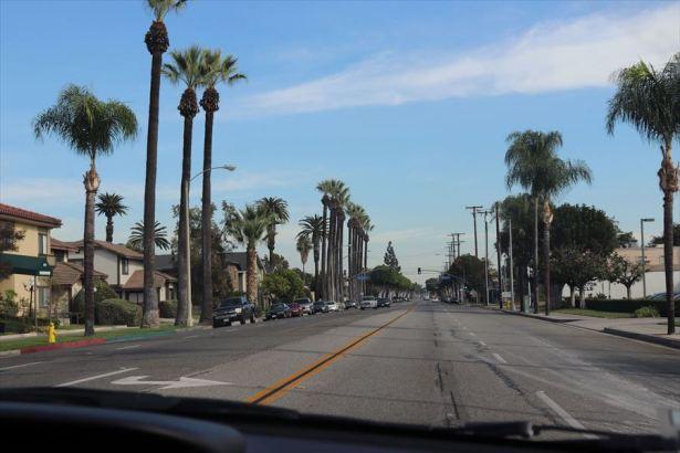 ロサンゼルス近郊のフラートン。いかにもカリフォルニアといった風景