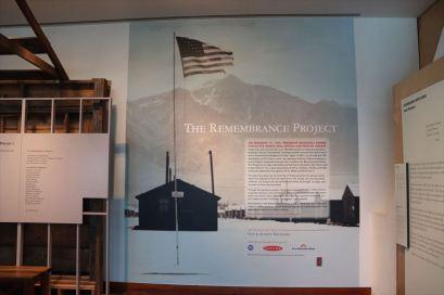 日系人の強制収容に関する展示