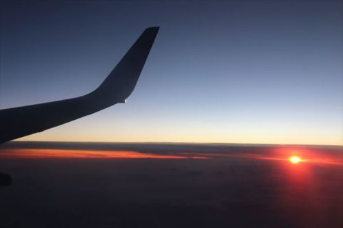 夕日もきれい