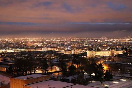 リヨン市街の夜景