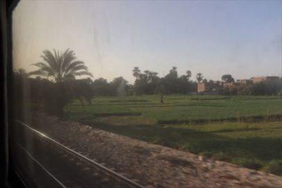 線路はナイル川と並行しているので緑豊かな風景がずっと続きます