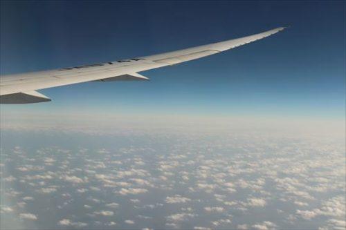 雲が美しいです。もうすぐ日本!