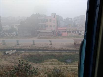 朝霧がすごい