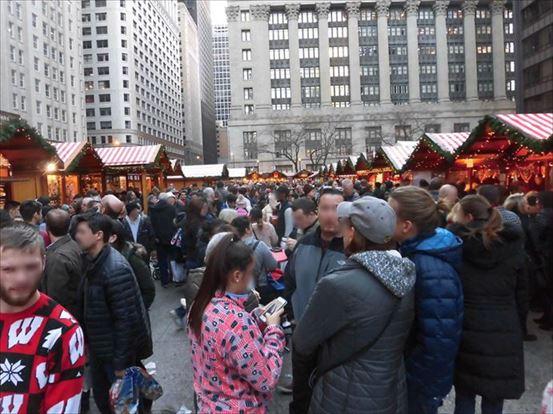 シカゴのクリスマス・マーケット。クリスマス・マーケットというものをはじめて見ました
