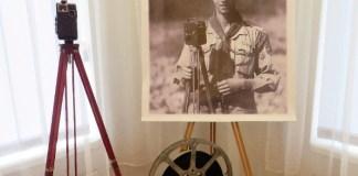 Фрагмент експозиції виставки (на відкритті) фотовиставки Юліана Дороша