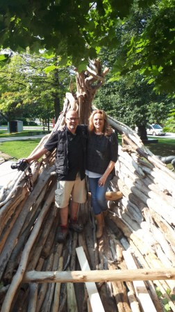 Artist Ernest Daetwyler and MMA Director/Chief Curator Carol Podedworny McMaster Museum of Art