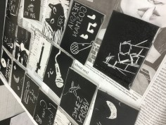 Hess Street School student's lino prints blocks
