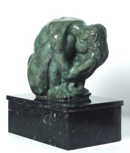 "Selma Burke, American (1900 – 1995), ""Sadness,"" 1951, bronze, 18½ x 17 x 11 inches, Bequest of Selma Burke, 1998.1"