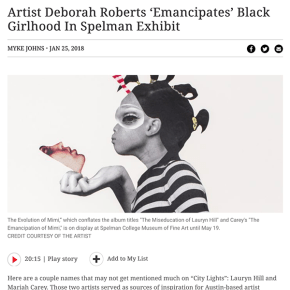 WABE Review: Artist Deborah Roberts 'Emancipates' Black Girlhood In Spelman Exhibit