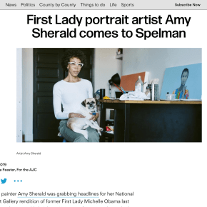 AJC: First Lady portrait artist Amy Sherald comes to Spelman