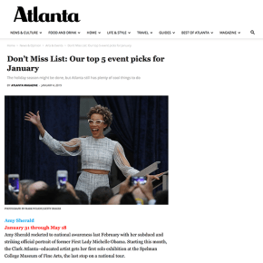 Atlanta Magazine: Don't Miss List: Our top 5 event picks for January